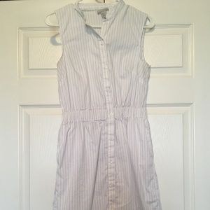 Striped shirt Dress with pockets